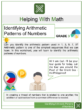 Identifying Arithmetic Patterns of Numbers 3rd Grade Math Worksheets