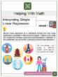 Interpreting Simple Linear Regression 8th Grade Math Worksheets