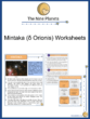 Mintaka (δ Orionis) Worksheets