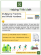 Multiplying Fractions and Whole Numbers 5th Grade Math Worksheets