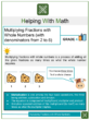Multiplying Fractions with Whole Numbers with Word Problems (with denominators from 2 to 6) 4th Grade Math Worksheets