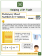 Multiplying Mixed Numbers by Fractions 5th Grade Math Worksheets