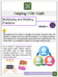 Multiplying and Dividing Fractions 6th Grade Math Worksheets
