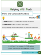 Prime and Composite Numbers 4th Grade Math Worksheets