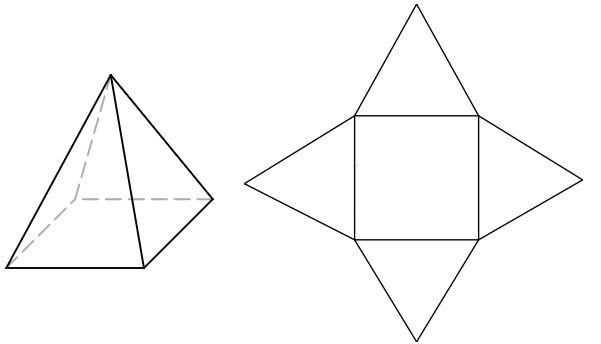 3D representation of a pyramid
