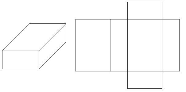 3D representation of a rectangular prism