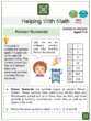 Roman Numerals (New Year's Day Themed) Worksheets