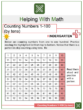 Counting Numbers 1 – 100 (by tens) Kindergarten Math Worksheets
