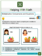 Multiplicative Comparisons and Equations 4th Grade Math Worksheets
