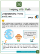 Understanding Points and Lines 4th Grade Math Worksheets