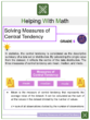 Solving Measures of Central Tendency 6th Grade Math Worksheets
