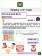 Solving Multi-Digit Decimals 6th Grade Math Worksheets