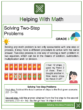 Solving Two-Step Problems 3rd Grade Math Worksheets