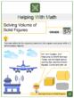 Solving Volume of Solid Figures 5th Grade Math Worksheets