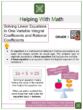 Solving Linear Equations in One Variable Integral Coefficients and Rational Coefficients 8th Grade Math Worksheets