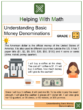 Understanding Basic Money Denominations 2nd Grade Math Worksheets