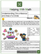 Understanding Circumference and Area of a Circle 7th Grade Math Worksheets