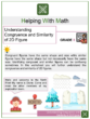 Understanding Congruence and Similarity of 2D Figures 8th Grade Math Worksheets