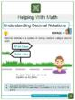 Understanding Decimal Notations 4th Grade Math Worksheets