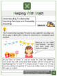Understanding Fundamental Counting Principle and Probability of Events 7th Grade Math Worksheets
