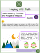 Understanding Positive and Negative Integers 6th Grade Math Worksheets
