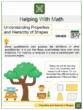 Understanding Properties and Hierarchy of Shapes 5th Grade Math Worksheets
