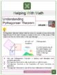 Understanding Pythagorean Theorem 8th Grade Math Worksheets