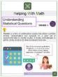 Understanding Statistical Questions  6th Grade Math Worksheets