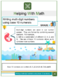 Writing Multi-Digit Numbers Using Base 10 Numerals 4th Grade Math Worksheets