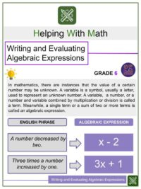 Mathematical Expressions and Vocabulary Game