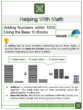 Adding Numbers within 1000 Using the Base 10 Blocks 3rd Grade Math Worksheets