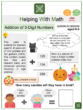 Addition of Three-Digit Numbers (Halloween themed) Worksheets