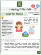 Base Ten Blocks (Easter Day Themed) Worksheets