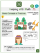 Basic Concepts of Fractions (Zoo Themed) Worksheets