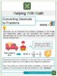 Converting Decimals to Fractions 4th Grade Math Worksheets