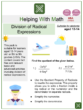 Division of Radical Expressions (Aviation Themed) Worksheets