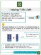Illustrating Equivalent Fractions Using Fraction Model (with denominators 8, 10, 12, 100) 4th Grade Math Worksheets