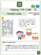 Number Lines (Food Festival themed) Worksheets
