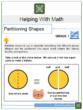 Partitioning Shapes 1st Grade Math Worksheets