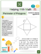 Perimeter of Polygons (Construction Themed) Worksheets