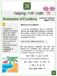 Subtraction of Functions (Tropical Themed) Worksheets