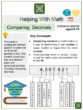 Comparing Decimals (International Day of Education Themed) Worksheets