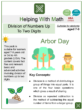 Division of Numbers Up To Two Digits (Arbor Day Themed) Worksheets