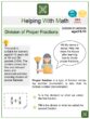 Division of Proper Fractions (Household Chores Themed) Worksheets