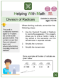 Division of Radicals (Online Learning Themed) Worksheets