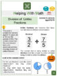 Division of Unlike Fractions (Halloween Themed) Worksheets