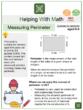 Measuring Perimeter (Engineering Themed) Worksheets