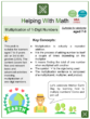 Multiplication of 1-Digit Numbers (Mother Earth Day Themed) Worksheets