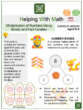 Multiplication of Numbers Using Number Bonds and Fact Families (Chinese New Year Themed) Worksheets