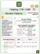 Number Patterns (Farm Themed) Worksheets